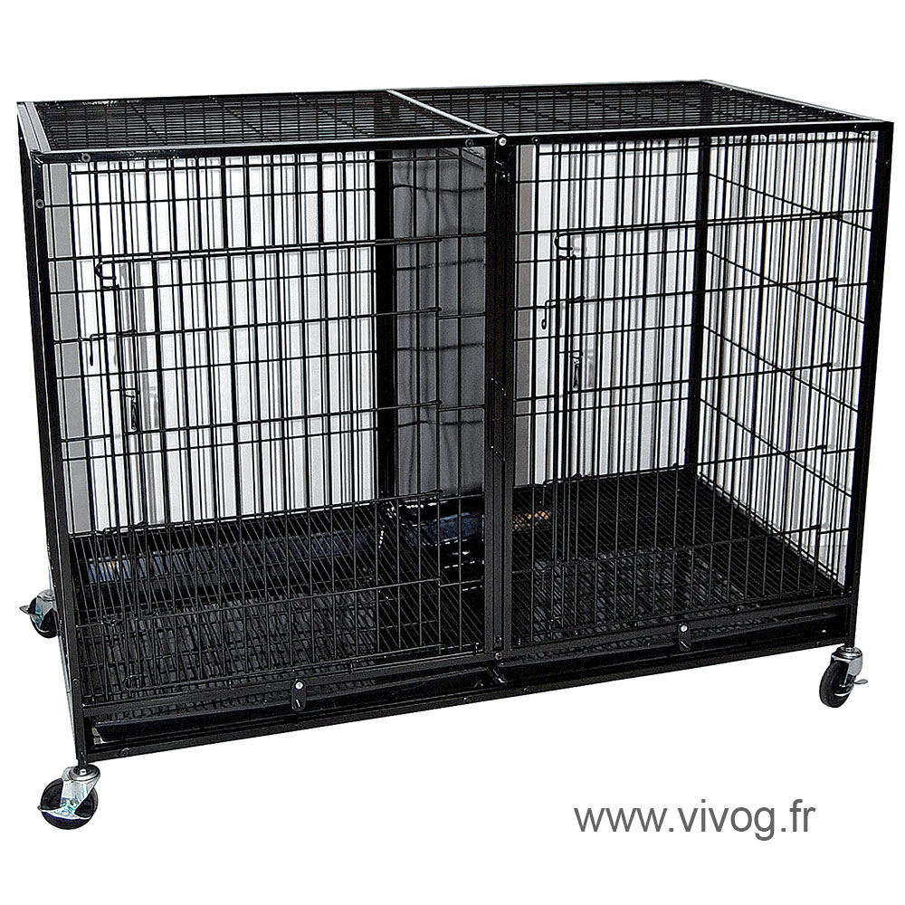 cage de gardiennage grand mod le empilable 120x60x84cm vivog professio. Black Bedroom Furniture Sets. Home Design Ideas