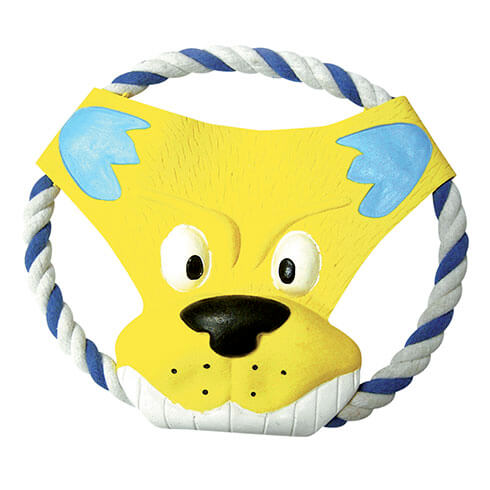 More informations about: Frisbee on a string, yellow head - for dog