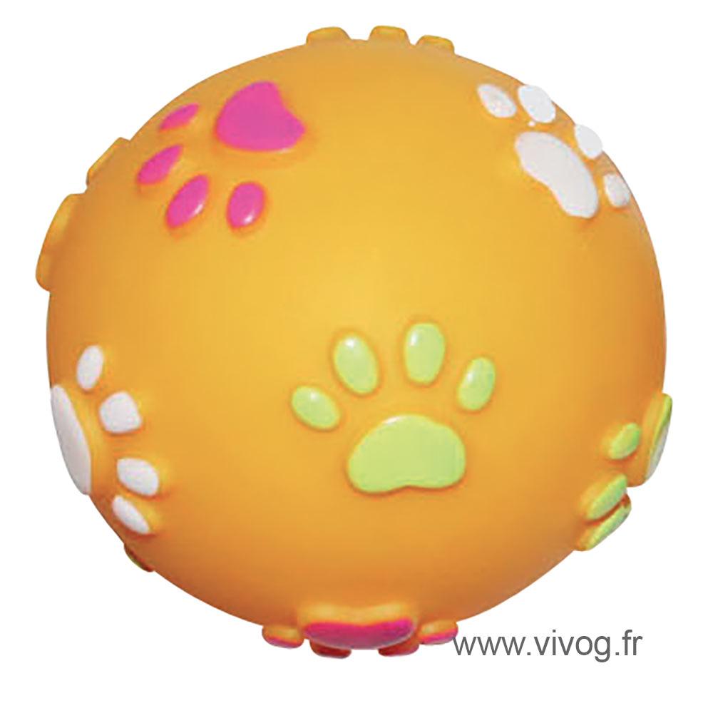 Orange vinyl treat-ball 7.6 cm