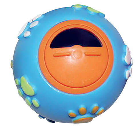 More informations about: Blue vinyl treat-ball 7.6 cm