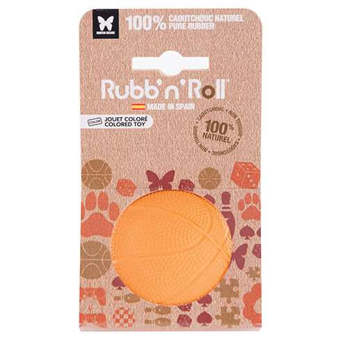 More informations about: Jouet Rubb'n'Roll - balle orange - 7 cm