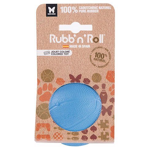 More informations about: Jouet Rubb'n'Roll - balle bleu - 7 cm