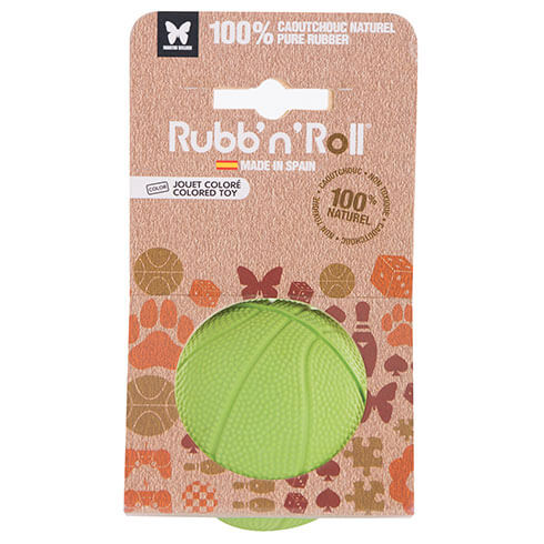 More informations about: Jouet Rubb'n'Roll - balle vert - 7 cm
