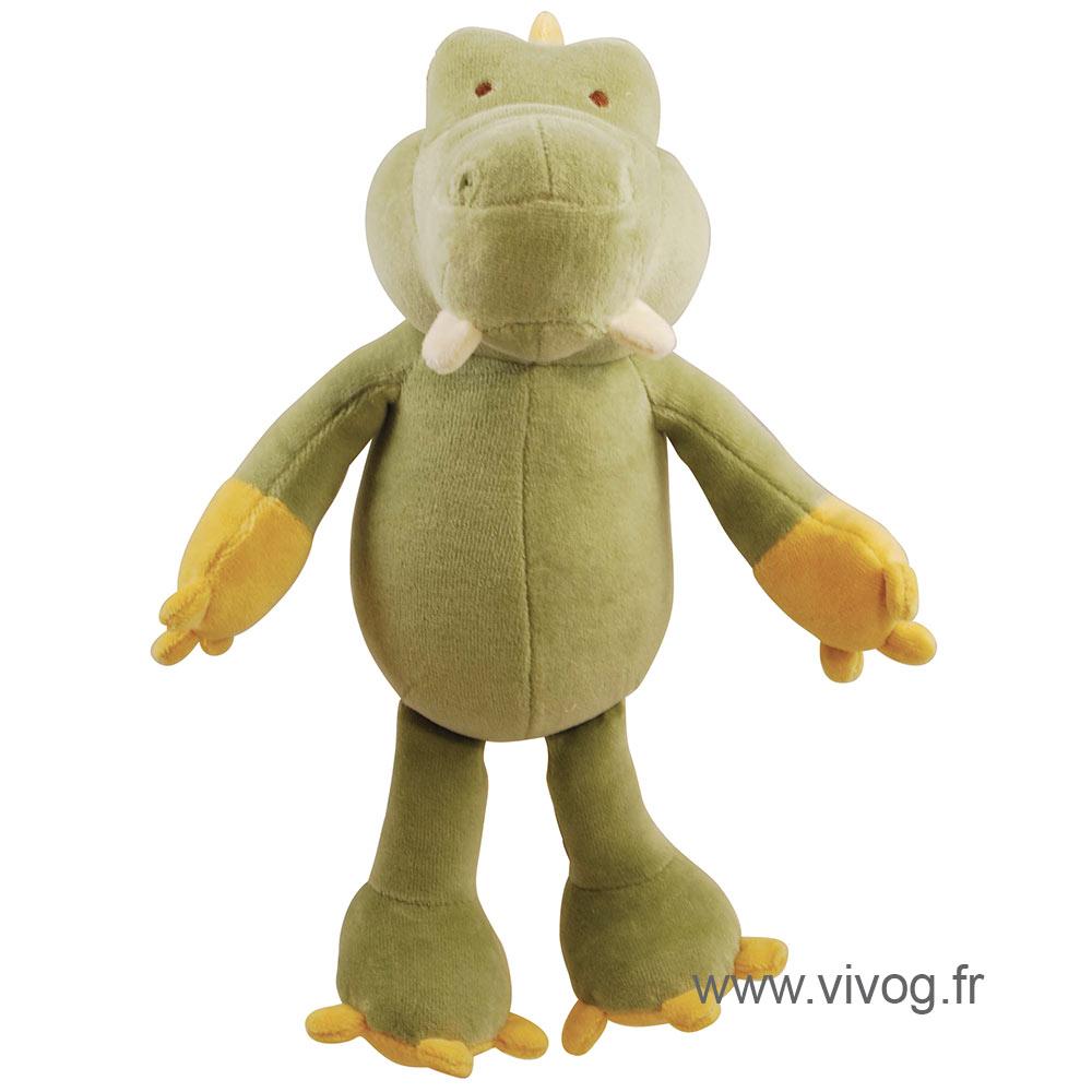 Jouet peluche bio - alligator - 25 cm