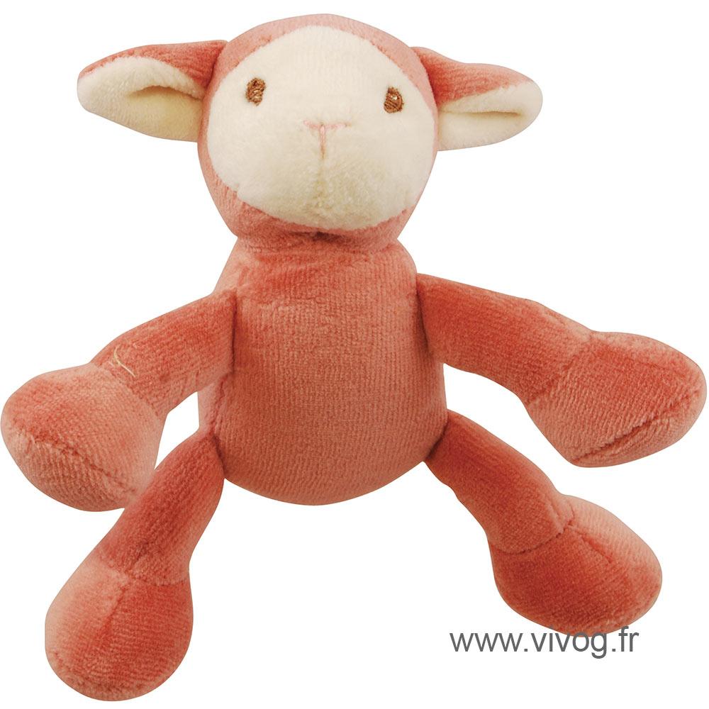 Jouet peluche bio - agneau - 10 cm