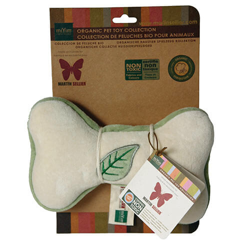 More informations about: Jouet peluche bio - os feuille - 20 cm