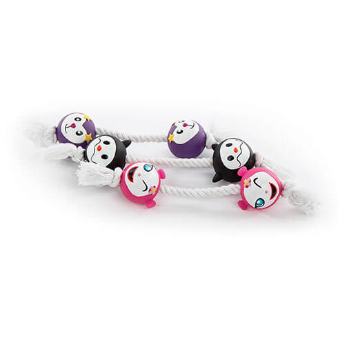 More informations about: Lot de 3 jouets 2 balles + corde 17 cm