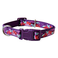 More informations about: Cherries nylon collar purple