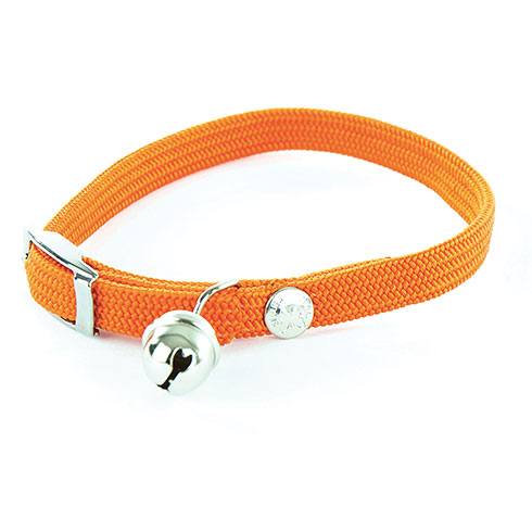 Plus d'informations sur le produit : Collier nylon chat élastique orange - 1 x 30 cm