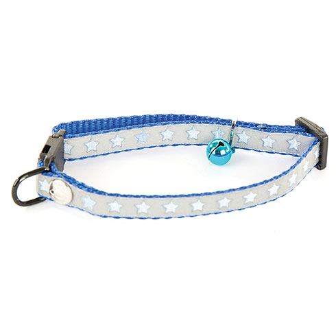 Plus d'informations sur le produit : Collier chat nylon bleu