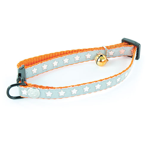 Plus d'informations sur le produit : Collier chat nylon orange