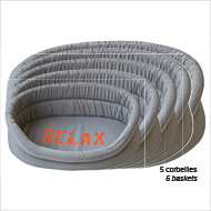 More informations about: Set of 5 dog wadding baskets - Relax collection - Vivog