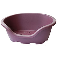 Plastic basket - Plum - Lenght 56cm x Lenght base 45cm x Height 23cm
