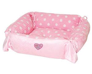 """Plus d'informations sur le produit :Corbeille carrée """"Pink Lilly"""" - 36x36cm"""