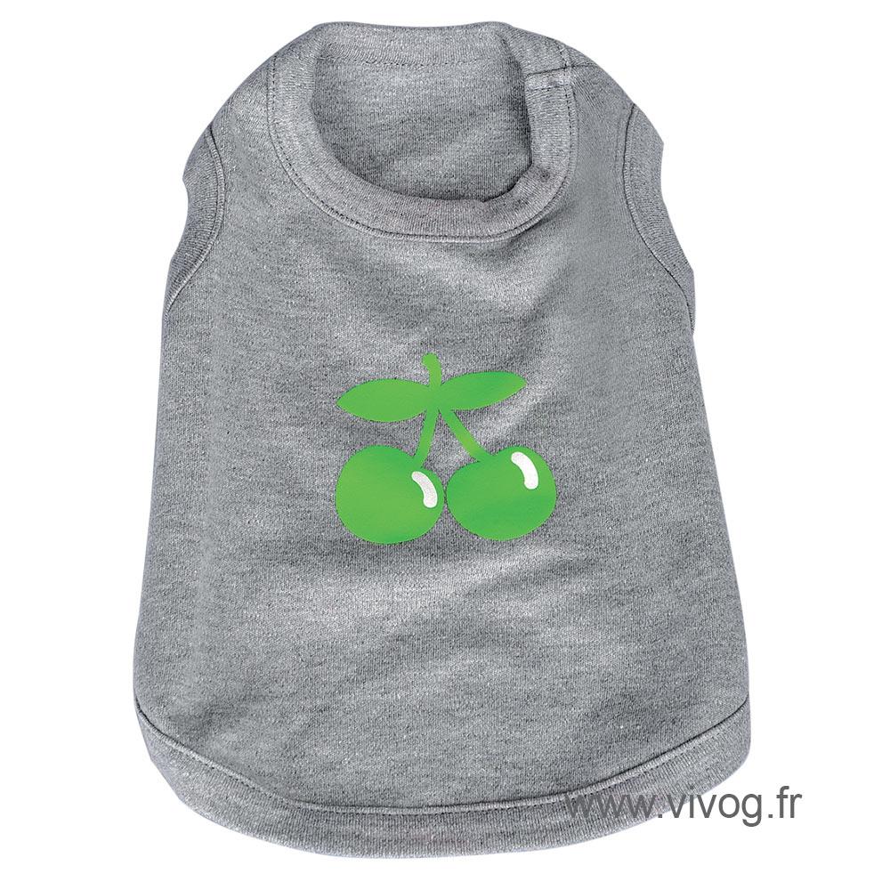 T-shirt cerise grey
