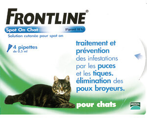 Frontline Spot On antiparasitics - cat - Pack of 4 pipettes
