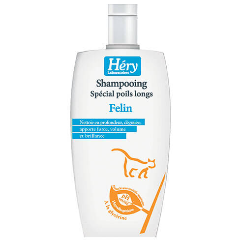 More informations about: Shampooing félin poils longs Héry 125ml