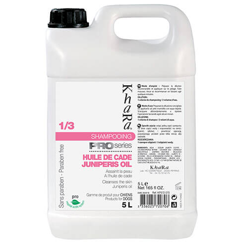 More informations about: Shampooing Khara Huile de cade - 5 Litres