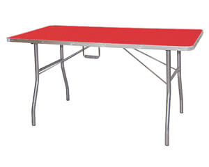 Classic folding grooming table - TA012 -  Red