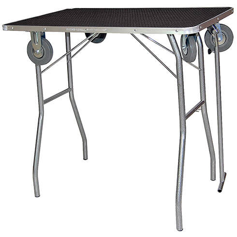 Classic folding grooming table - TA013 -  Black