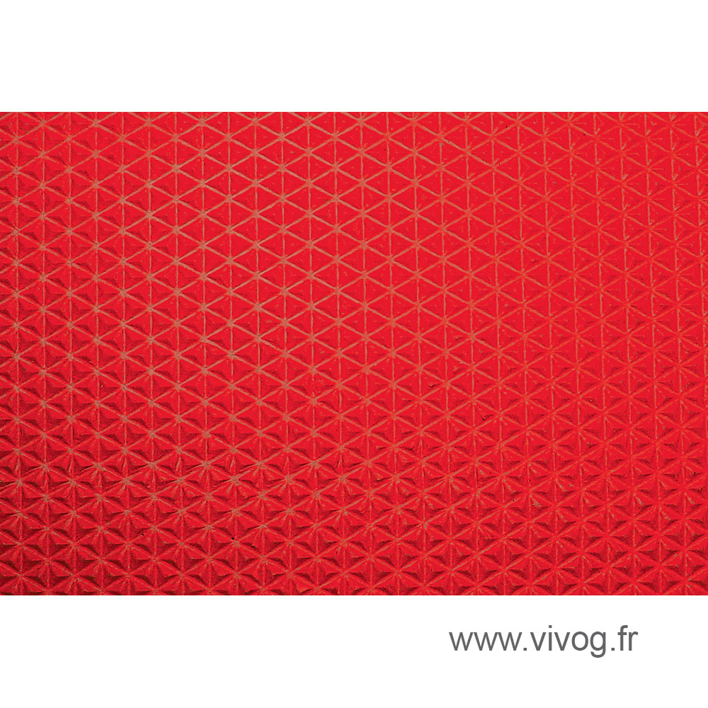 Mats measure for wood trays - Red