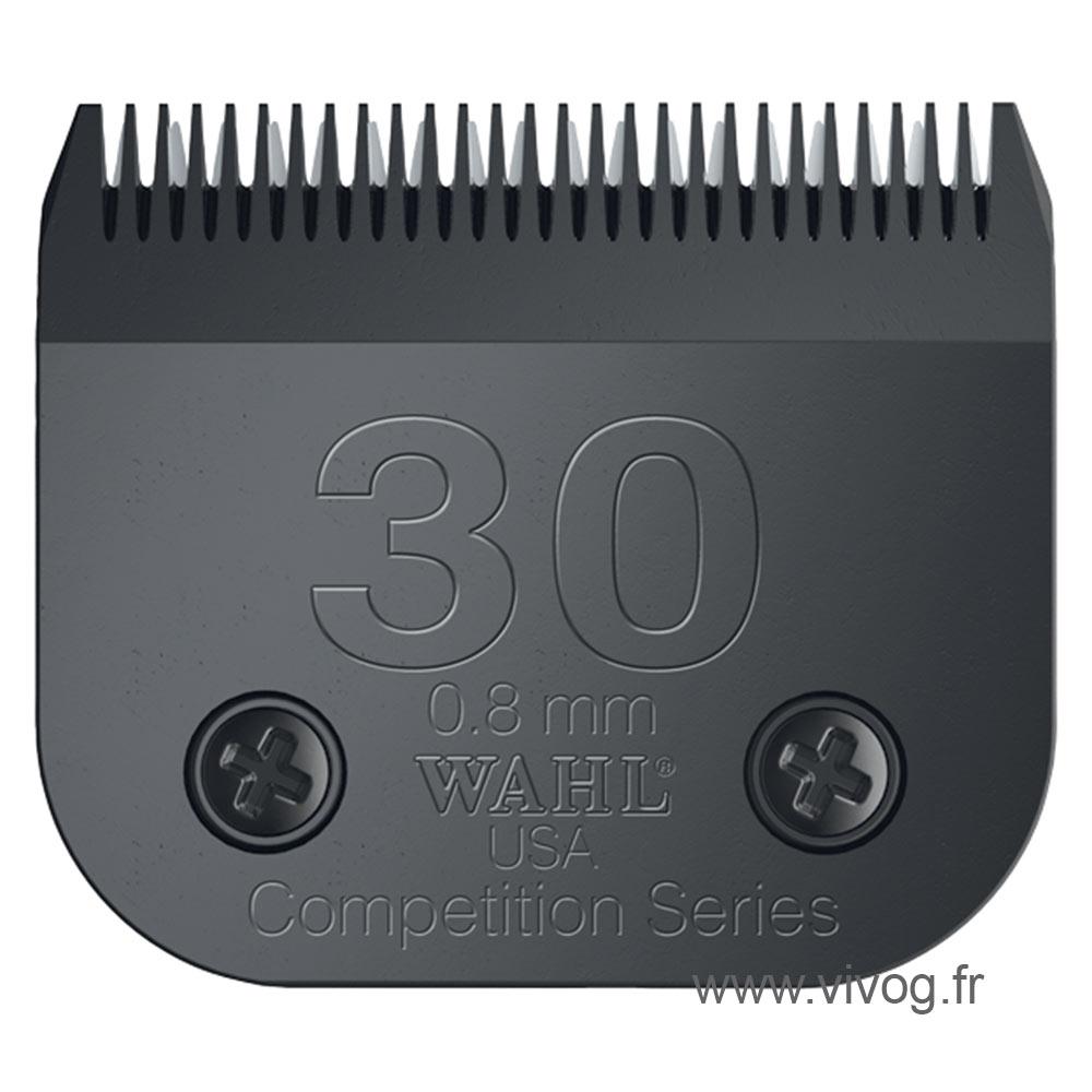 Tête de coupe Clip pour tondeuse chien - Wahl Ultimate compétition - N°30 - 0,8mm