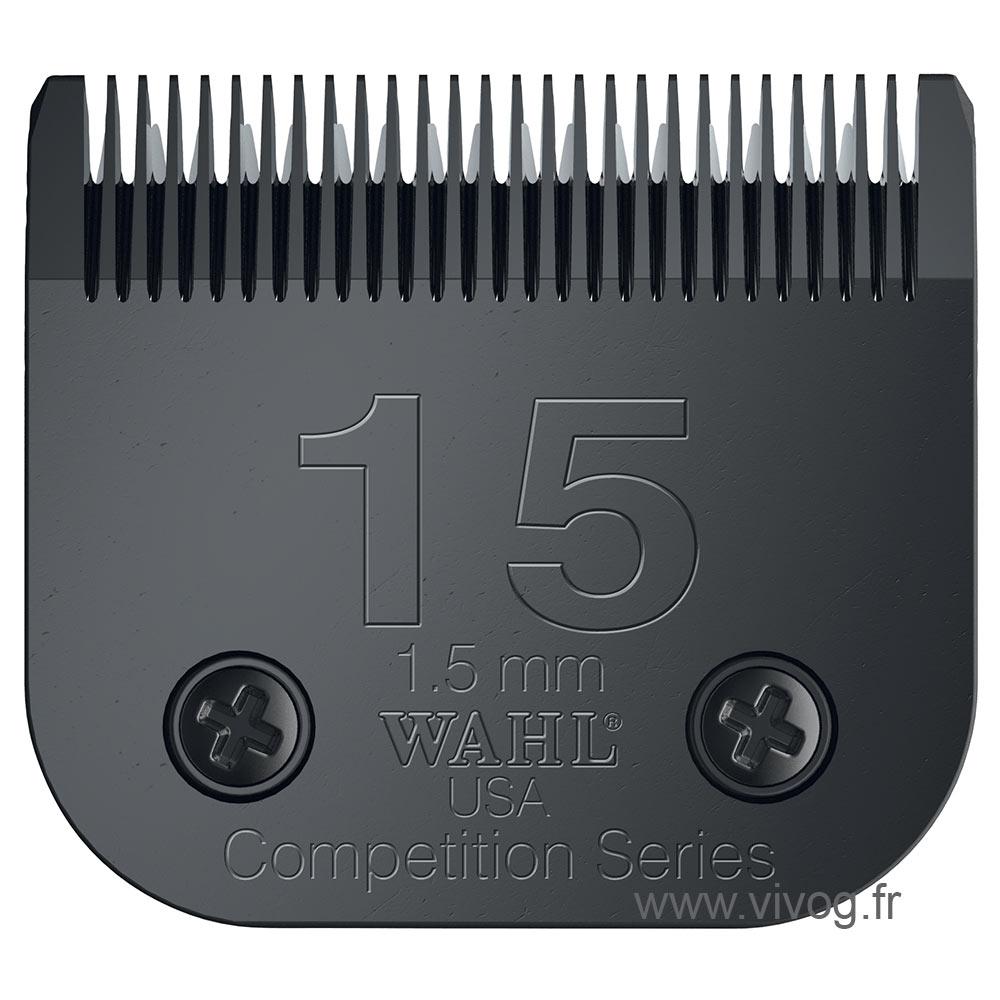 Tête de coupe Clip pour tondeuse chien - Wahl Ultimate compétition - N°15 - 1,5mm