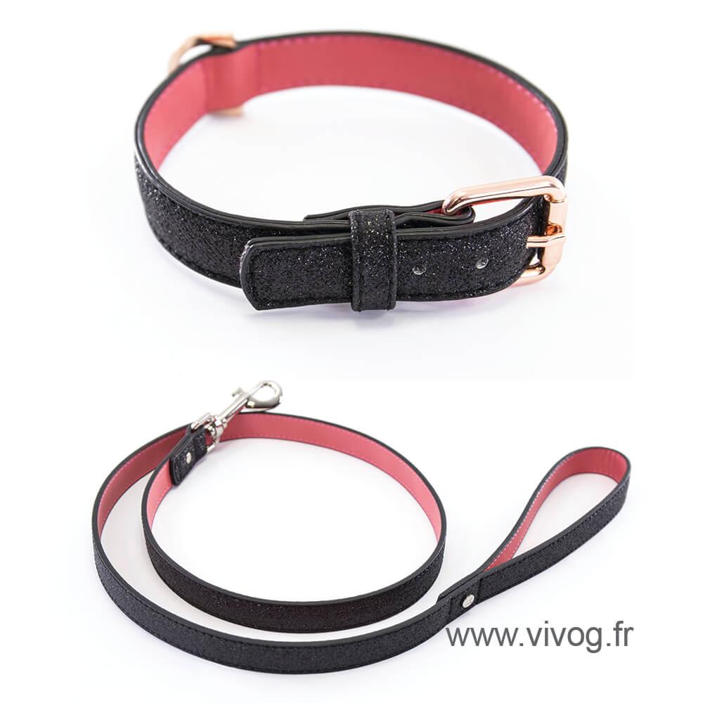 Dog collar - Charleston collection - Téo Jasmin