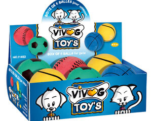 More informations about: Vivog toy box - 6 assorted balls