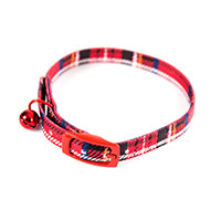 More informations about: Cat straight collar right - red Scots