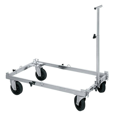More informations about: ADJUSTABLE - reinforced trolley - Lenght 75cm to 125cm - Width 55cm to 80cm