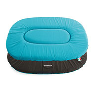 More informations about: Flat oval Dog Cushion - Classic Blue