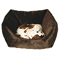 More informations about: Square dog basket - Cow - 50cm