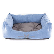 More informations about: Domino dog's basket - Blue Suédine
