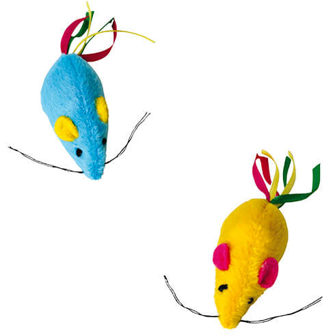 More informations about: Cat Toys - 2 rainbow mouse