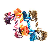 More informations about: Dog Toy - Set of 4 ropes 2 knots