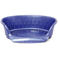 More informations about: Basket for dog and cat - non-slip plastic blue