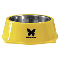 More informations about: Dog bowl - stainless steel and melamine - Yellow