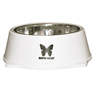 More informations about: Dog bowl - stainless steel and melamine - White