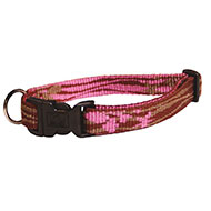 Dog collar - Pink Lagoon - S - W15mm L25 to 40cm