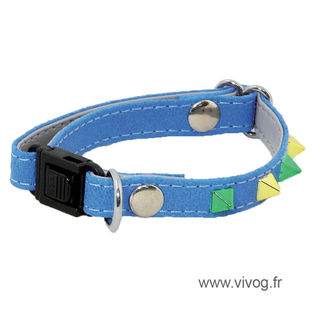 Adjustable Cat Collar - Glam & Color - blue