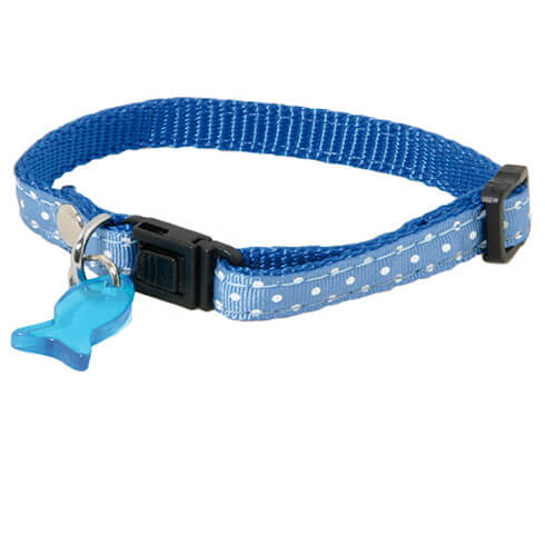 More informations about: Adjustable Cat Collar - Pea - blue