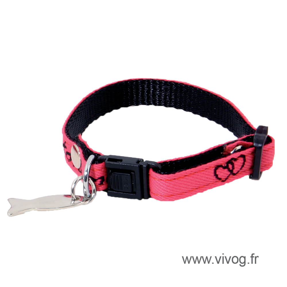 Adjustable Cat Collar - Love
