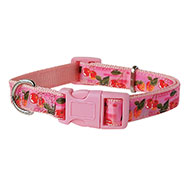 More informations about: Cherries nylon collar pink