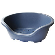 Plastic basket - Navy blue - Lenght 74cm x Lenght base 61cm x Height 25cm