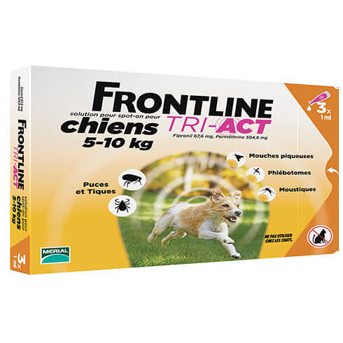 More informations about: Frontline Tri-Act pour chien de 5-10kg