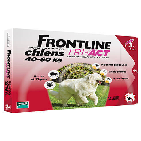 More informations about: Frontline Tri-Act pour chien de 40-60kg