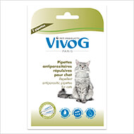 More informations about: 2 repellent antiparasitic pipets for cat -  with plant extracts - Vivog