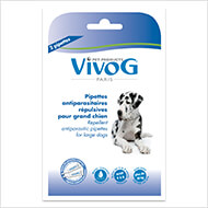 More informations about: 2 repellent antiparasitic pipets for large dogs -  with plant extracts - Vivog