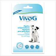 More informations about: 2 repellent antiparasitic pipets for small dogs -  with plant extracts - Vivog